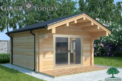grand lodges log cabin - 0918 - 4.5m x 4.5m - 01