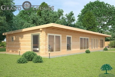 grand lodges log cabin - 0931 - 20.0m x 6.7m - 01