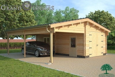 grand lodges log cabin - 1260 - 7.8m x 8.0m - 01