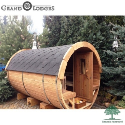Thermo-wood Sauna Barrel - 3.0m x 1.97m