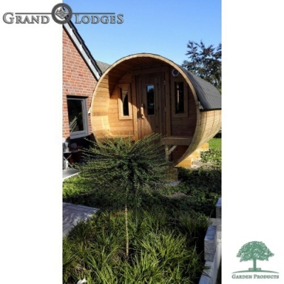 Thermo-wood Sauna Barrel - 4.5m x 2.27m