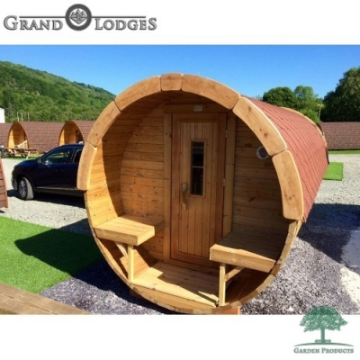 Thermo-wood Sauna Barrel - 4.8m x 1.97m