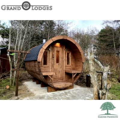 Thermo-wood Sauna Barrel - 4.0m x 1.97m