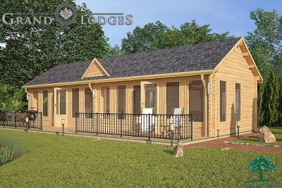 grand lodges log cabin - 0291 - 11.0m x 4.0m - 01