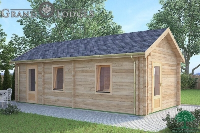grand lodges log cabin - 0627 - 4.0m x 8.0m - 01