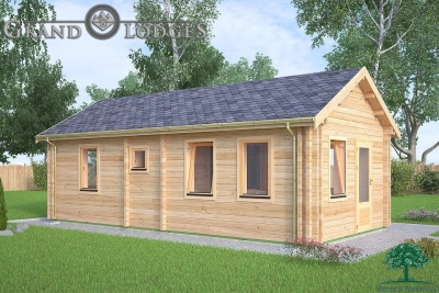 grand lodges log cabin - 0629 - 4.0m x 8.0m - 01