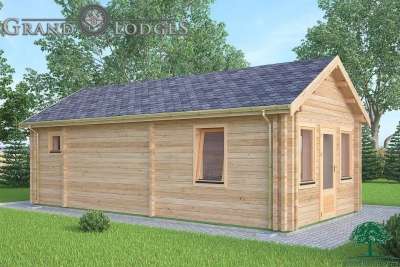 grand lodges log cabin - 0631 - 4.0m x 8.0m - 01