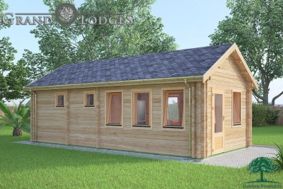 grand lodges log cabin - 0637 - 4.0m x 8.0m - 01