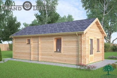 grand lodges log cabin - 0639 - 4.0m x 8.0m - 01