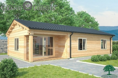grand lodges log cabin - 0889 - 11.0m x 6.0m - 01