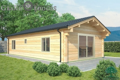 grand lodges log cabin - 0892 - 5.5m x 11.0m - 01