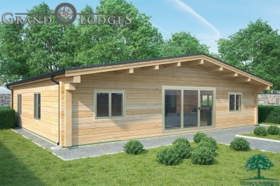 grand lodges log cabin - 0911 - 11.5m x 9.5m - 01