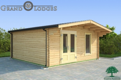 grand lodges log cabin Chicago - 5.0m x 5.0m - 01