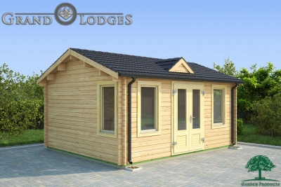 grand lodges log cabin Giza - 5.0m x 4.0m - 01