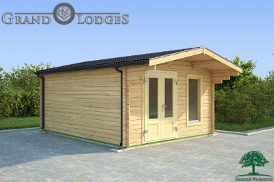 grand lodges log cabin Houston - 4.0m x 5.0m - 01