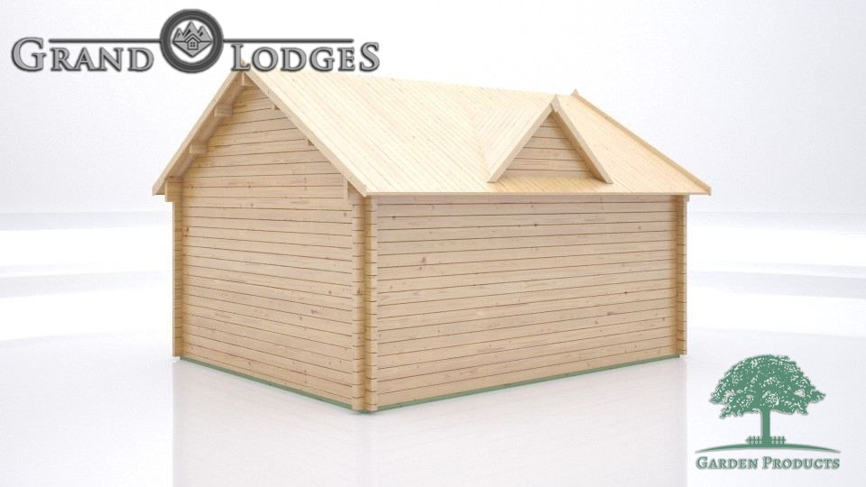 GP Bespoke Log Cabin - 2437 - 5.0m x 4.0m - Clockhouse Body