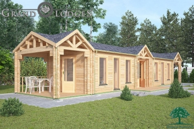 Insulated Garden Office - 15.0m x 3.5m - 0544
