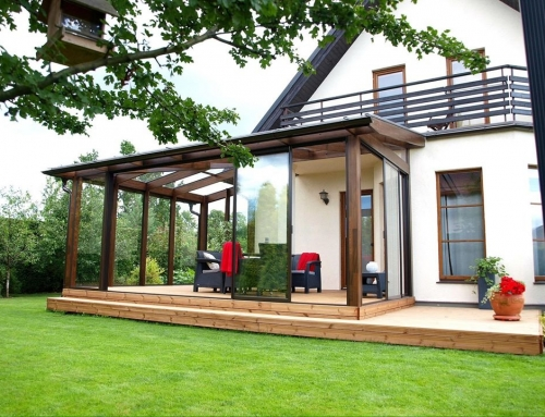 Glazed Verandas to complement your Log Cabin